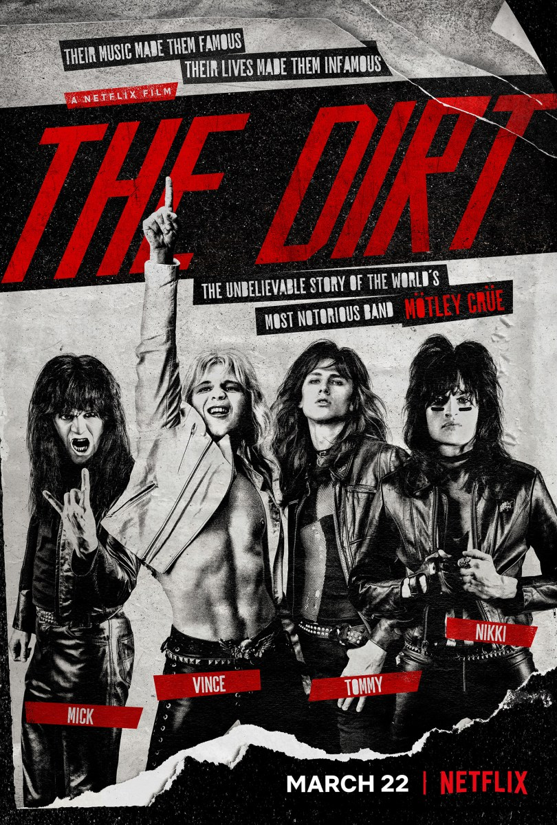 Trailer & Poster for Mötley Crüe Docudrama THE DIRT on Netflix this March!